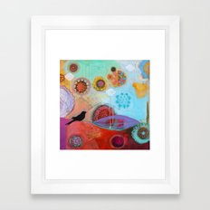 Happy and Free Framed Art Print