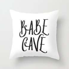 Babe Cave Throw Pillow
