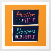 Never Sleep Art Print