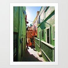 Guanajuato sidestreets Art Print