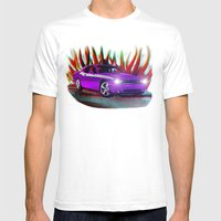 Plum Crazy Challenger Mens Fitted Tee White SMALL