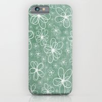 Doodle Flowers Green iPhone 6 Slim Case