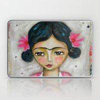 Frida Kahlo And Bunny Laptop & iPad Skin