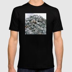 Aluminium Cubes ... Mens Fitted Tee Black SMALL