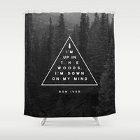 Woods -- Bon Iver Shower Curtain