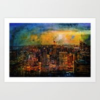 NYC Color Grunge Art Print