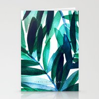 Palm Leaves - Teal Ombre Stationery Cards