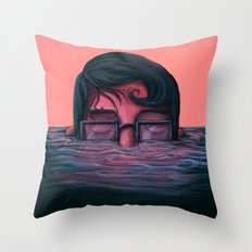 Underwater breath Throw Pillow