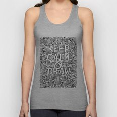 Keep Calm and Draw Unisex Tank Top