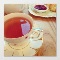 Vintage tea Canvas Print