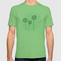 Dandelions Mens Fitted Tee Grass SMALL