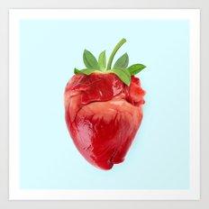 STRABERRY HEART Art Print