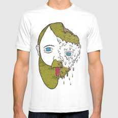 Face Melter Print SMALL White Mens Fitted Tee