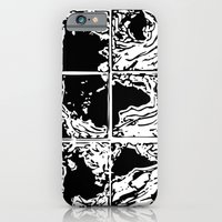 iPhone & iPod Case featuring Monotype Map (White) by Devin Sullivan