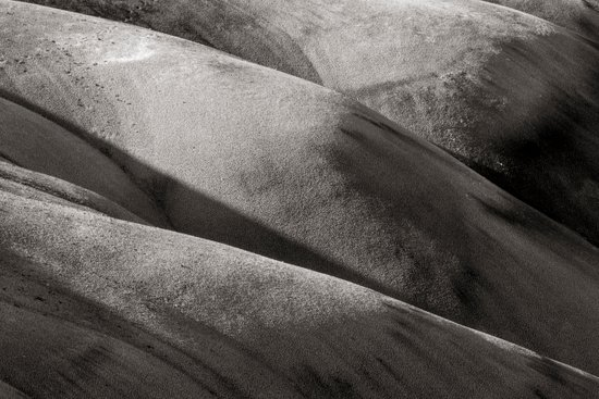 Painted Hills Monochrome Art Print
