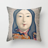 Matrioska Japonesa Throw Pillow
