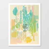 Imitation Flattery - As Many Flipping Triangles as Possible Canvas Print