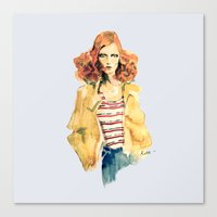 Portrait of Karen Elson Canvas Print