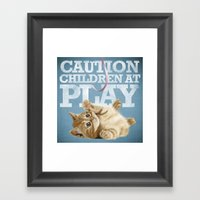 A Funny Baby Cat Playing… Framed Art Print