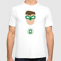 GREEN LANTERN Mens Fitted Tee White SMALL