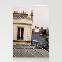 Paris Rooftop #1 Stationery Cards
