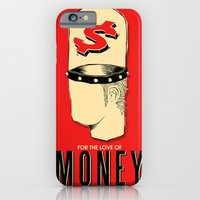 iPhone & iPod Case featuring For The Love of Money Is A Root of All Evil by Peikko Kasvot