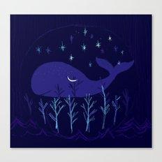 Whale Night Canvas Print