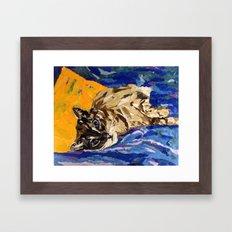 Cat Collage Framed Art Print