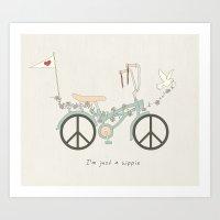 Peace & Love (Text Versi… Art Print