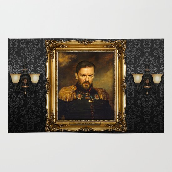 Ricky Gervais - replaceface Area & Throw Rug
