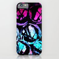 iPhone & iPod Case featuring cyan ink top by seb mcnulty