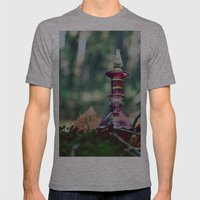 Three Wishes Mens Fitted Tee Athletic Grey SMALL