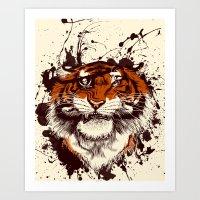 TigARRGH (Maroon And Ora… Art Print