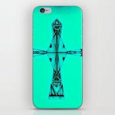 cross-aqua iPhone & iPod Skin