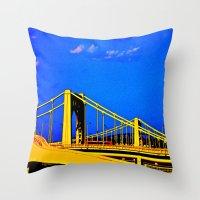 The 3 Sisters Bridges Throw Pillow