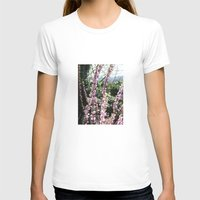 Nature rises Womens Fitted Tee White SMALL