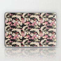 Japanese garden with cranes Laptop & iPad Skin