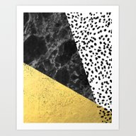 Mele - Gold Abstract Pai… Art Print