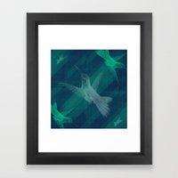 Flight of the Hummingbird Framed Art Print