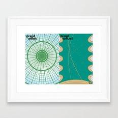 le toit Framed Art Print