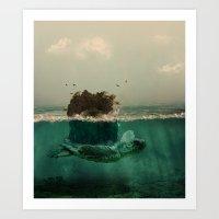 The island Art Print