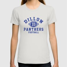 dillon panthers football #33 Womens Fitted Tee Silver SMALL