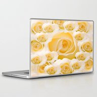 Creamy Peach Rose Abstra… Laptop & iPad Skin