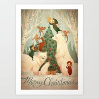 Christmas Card 2014 Art Print