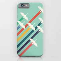 iPhone Cases featuring The Cranes by Budi Kwan