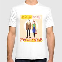 Together but not together Mens Fitted Tee White SMALL
