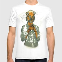 Year Of The Tiger  Mens Fitted Tee White SMALL