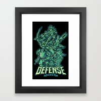 Defense Team Framed Art Print