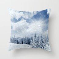 Pretty Winter Scenery La… Throw Pillow
