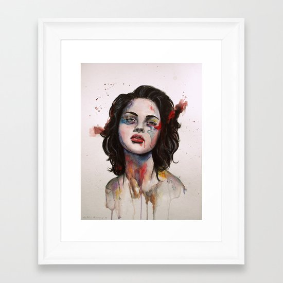 Face Mapping Framed Art Print